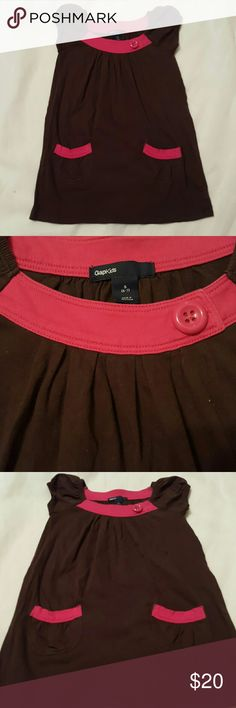 Girl's Gap brown dress size 6/7 Worn once! Like new ↔Check it out my kids closet girls only! @luxurycgirls Click on the bottom Gap kids Dresses