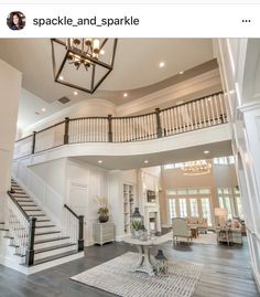 house goals Too big, but the style, flooring, and colors are great; living room or entrance Dream House Interior, Luxury Homes Dream Houses, Dream Home Design, My Dream Home, Home Interior Design, House Design, Design Living Room, Big Living Rooms, Dream House Plans