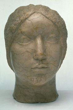 """""""Stone Portrait Head of Edith Halpert"""", 1930, William Zorach, American, b. Lithuania (1887-1966), marble, 12 3/4 in. Gift of Mr. and Mrs. Herbert S. Falk and Mr. and Mrs. Carl O. Jeffress, 1974. 1974.2187"""