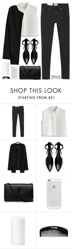 """Minimal style"" by elly3 ❤ liked on Polyvore featuring Acne Studios, Chicwish, Zara, Yves Saint Laurent, women's clothing, women, female, woman, misses and juniors"