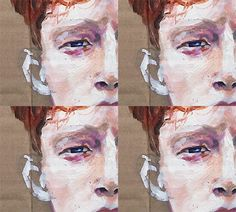 King Krule, oil on box, 2014