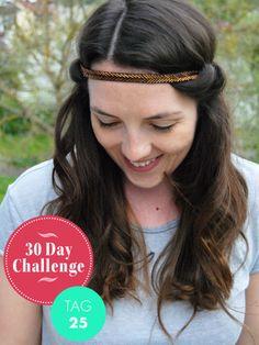 Meine 30-day-challenge im April lautet: jeden Tag eine andere Haar-Frisur tragen. Heute mit Boho-Frisur