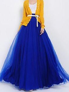 Gorgeous blue tulle skirt!