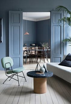 wow the grey blue colour inside the couple s oslo apartment and shop altbau style