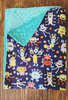 Jax Tula inspired, It's a boy thing, monster mash toddler blanket