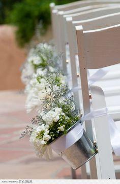 aisle decoration wedding - decoratie ceremonie bruiloft