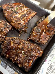 beef ribs with pomegranate bbq sauce by spicyicecream, via Flickr