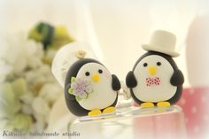 Wedding Cake Topper- Penguins