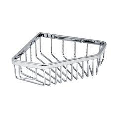 "Gatco 1499 8-1/2"" Corner Shower Basket Chrome Accessory Basket Shower Caddy"
