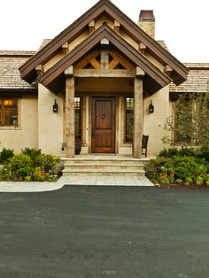i think he would absolutely love this combination of stucco and timber exterior paintstucco