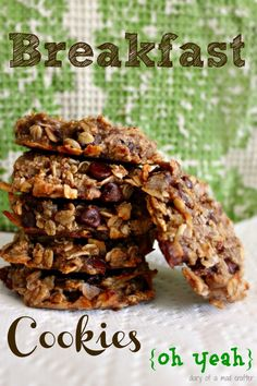 Vegan breakfast cookies recipe! Ssshhh...don't tell the kids they are healthy ;)