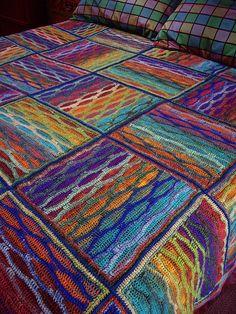 Chameleon, free pattern. http://www.ravelry.com/patterns/library/chameleon-baby-blanket