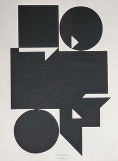 Victor Vasarely and Richard Mortensen Victor Vasarely, Geometric Form, Silk Screen Printing, Modern Artwork, Op Art, Graphic Prints, Paper Texture, Sculptures, Auction