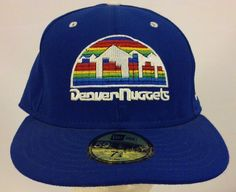 New Era Denver Nuggets Hardwood Classics Royal Blue Fitted Cap Hat Size 7 3/4 #59Fifty