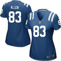 Indianapolis Colts Dwayne Allen Jersey #83 Limited Nike Royal Blue Women NFL Jersey Sale