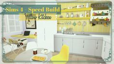Sims 4 - Yellow Kitchen with Desk