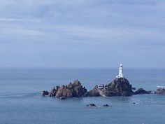 Near St. Helier, Jersey by Val Harrison via facebook Beach Color, Channel Islands, Lighthouse, Nautical, Chanel, Holidays, Facebook, World, Colors