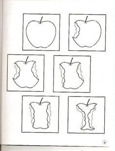 Plak in de goede volgorde, free printable Preschool Apple Theme, Apple Activities, Fruit And Veg, Fruits And Vegetables, Preschool Worksheets, Preschool Crafts, Fall Crafts, Diy And Crafts, Apple Tea