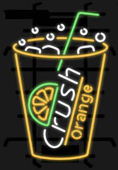 orange crush soda neon sign