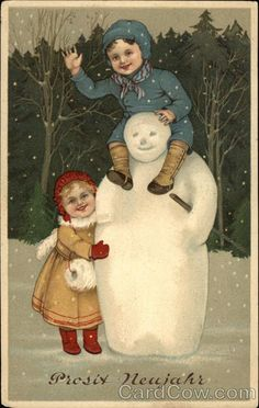 Children with Snowman Snowmen