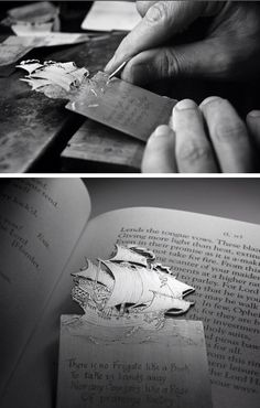 Hand etched silver bookmarks.