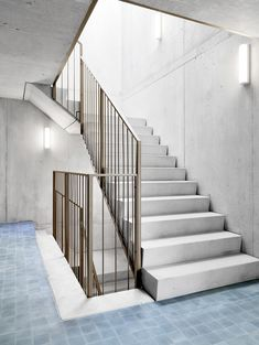 Staircase - Home to Z Staircase Handrail, Stair Railing, Staircase Design, Stone Stairs, Concrete Stairs, Arch Interior, Interior Stairs, Building Stairs, Building A House