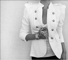 White. Jacket. Everything.