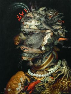 Джузеппе Арчимбольдо Вода 1566. 67х50. Музей истории искусств