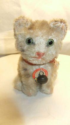 """Antique/Vintage Little Steiff Cat Kitten """"Susi"""" Steiff"""