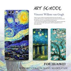 Starry Night Van Gogh Design Paint phone case for huawei p10 p9 plus p9 p8 lite 2017 mate 9 pro 8