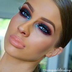 Pop of colour ✨✨ Brows @sigmabeauty Brow Pencil & Powder in Medium/Dressed Up. Eyes @morphebrushes 350 & 35b palette, @eyeofhoruscosmetics Black eyeliner pencil, @__dollbeauty_ lashes. Cheeks @anastasiabeverlyhills Contour Kit, @thebalm_cosmetics Swisse Dot blush, @ofracosmetics You Dew You Highlight. Lips @wetnwildbeauty Pink Suga with @napoleonperdis Nude lip liner. Brushes @makeupaddictioncosmetics @sigmabeauty @maccosmetics @furlesscosmetics ✨✨✨