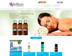 Well, this is the layout that i had created for the web store 'Feitiços Aromaticos' while working at the Intergiro company here in Brazil.