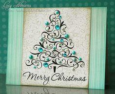 beautiful Christmas tree card :-)