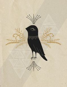 Black Bird by R. Phillips....oh i am in love with this design. serious love.