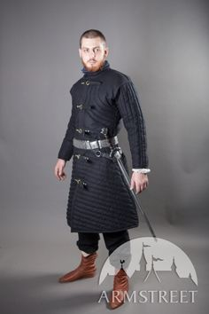 Medieval gambeson under armour SCA fighting gear :: by medieval store ArmStreet Medieval Costume, Medieval Armor, Medieval Fashion, Medieval Clothing, Fantasy Costumes, Cosplay Costumes, Under Armour, Armor Clothing, Fantasy Armor