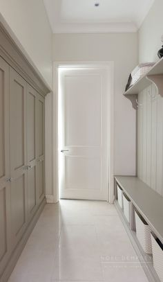 Painted bootroom cabinets entryways & mudrooms in 2019 прихо Vestibule, Boot Room Utility, Kitchen Utilities, Laundry Room Design, Laundry Rooms, Laundry Closet, Small Laundry, Up House, Mudroom