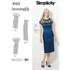 Pattern 8163 Misses' and Plus Amazing Fit Special Occasion Dress