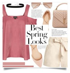 """""""Best Spring Look"""" by keziatmrskasrf ❤ liked on Polyvore featuring Étoile Isabel Marant, Topshop, H&M, Yves Saint Laurent, Charlotte Russe and 2028"""