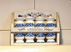Vintage Rossini 5 pc. Blue and White Wooden by EagleWingVintage, $18.00