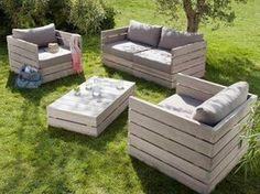 meubles pour jardin en palette - comment les faire ?
