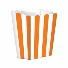 Orange stripe treat boxes http://www.wfdenny.co.uk/p/orange-striped-treat-boxes/3566/