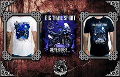 (Camiseta Big Trail Spirit). Visite https://www.cavalariastore.com.br e conheça esta camiseta com a arte exclusive desenvolvida pela Cavalaria de Aço!