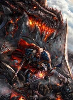 Varian Wrynn vs Deathwing #Games #FanArt