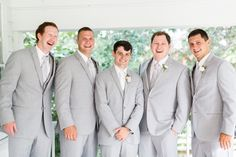Groomsmen in light grey and all smiles #Cedarwoodweddings Hillary+Jeff :: 07.09.16 | Cedarwood Weddings
