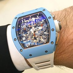 Richard Mille RM011 automatic fly back chronograph blue ceramic, limited 50 pieces.