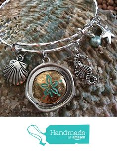 Nautical Bangle Sand Dollar Pearl Seahorse and Shell Expandable Charm Bracelet from Jules Obsession http://www.amazon.com/dp/B0167353CI/ref=hnd_sw_r_pi_dp_5pSuxb0V29QM9 #handmadeatamazon