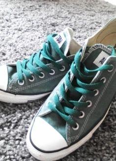 Kup mój przedmiot na #vintedpl http://www.vinted.pl/damskie-obuwie/obuwie-sportowe/11096827-zielone-trampki-converse-rozmiar-39