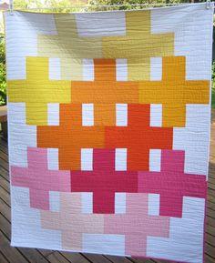 Positivity Quilt by Cinzia Allocca at deux petites souris  (Montreal, Quebec) posit quilt, quilt inspir, portfolio, petit souri, quilts, deux petit, quilt idea, cinzia allocca, modern quilt