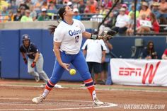 -- and national player of the year Lauren Haeger hurling her sixth straight complete game of the postseason to out-duel a trio of Tigers pitchers for her 30th win of the season.