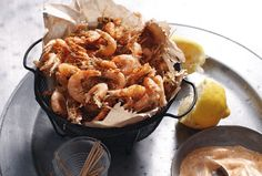 Spiced Shrimp with Paprika Mayonnaise from Leite's Culinaria